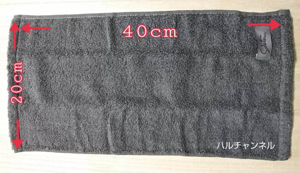 モダンリビングNo.250×「育てるタオル」feelプチフェイスタオル特別セットに付いていたタオルのサイズ